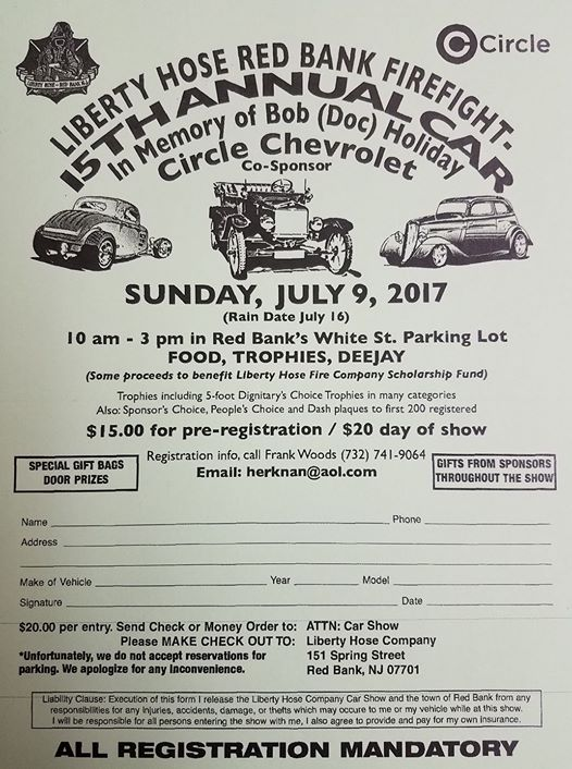 Th Annual Bob DOC Holiday Memorial Car Show In Red Bank On July - Any car shows near me