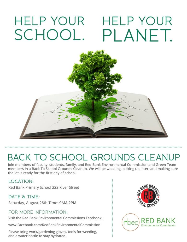 back to school grounds cleanup