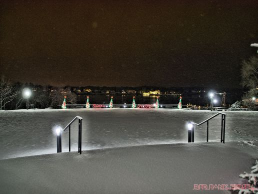 Red Bank Holiday Lights Night Snow 5 of 17