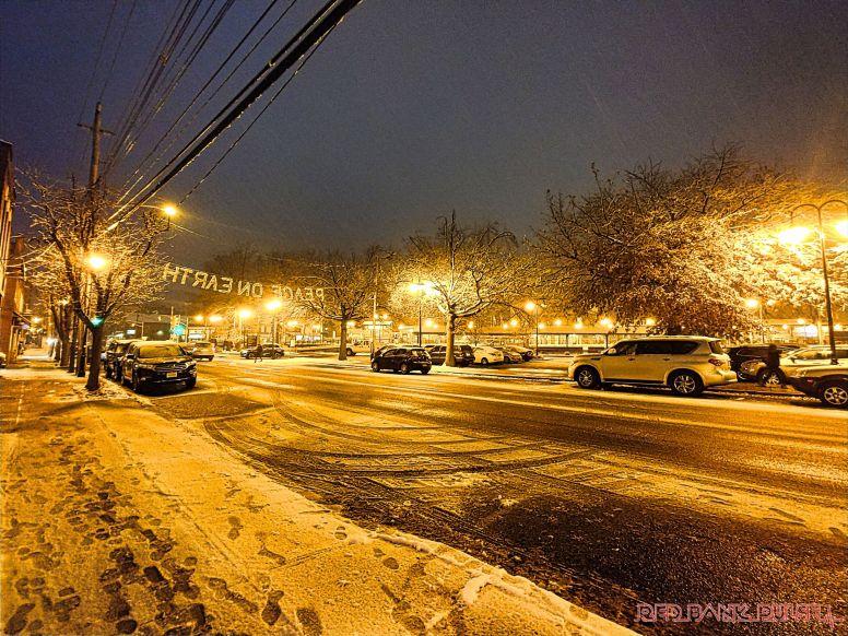 Red Bank Snow Snowfall Holiday Lights 1 of 8