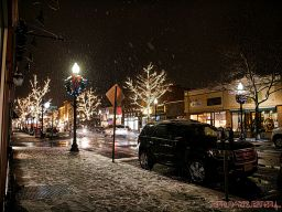 Red Bank Snow Snowfall Holiday Lights 8 of 8
