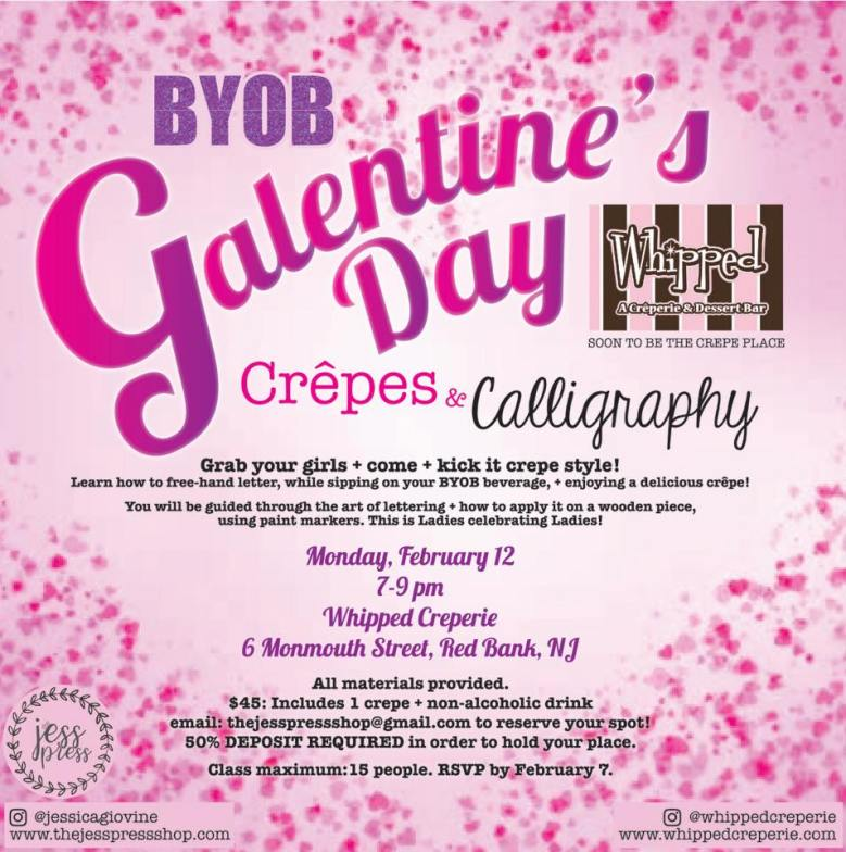 Whipped Creperie Valentine's Day