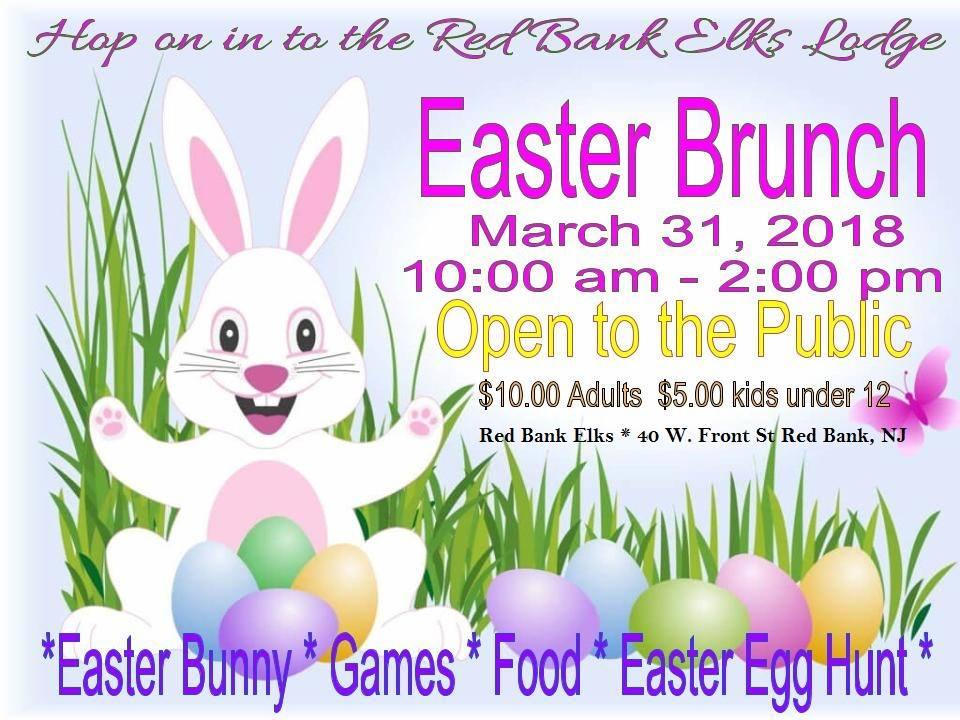 Easter Brunch Egg Hunt At The Red Bank Elk Lodge On March 31st