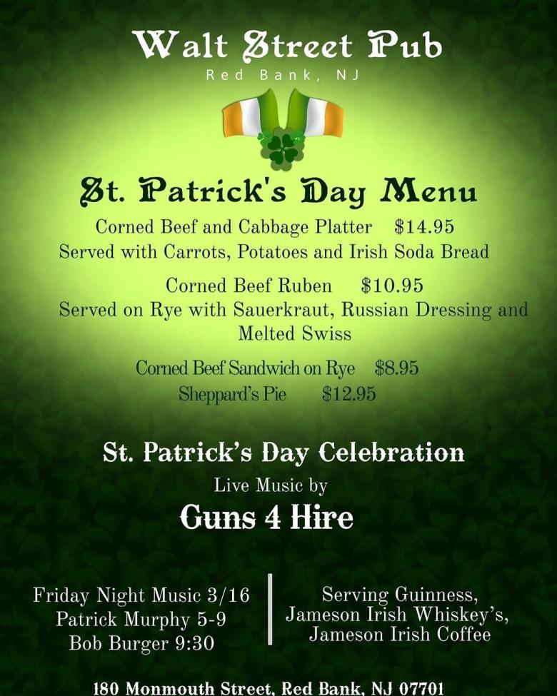 Walt Street Pub St Patrick's Day