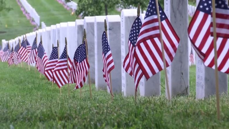 Distribution of Flags for Veterans at Fair View Cemetery