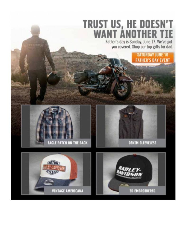 Harley Davidson Father's Day