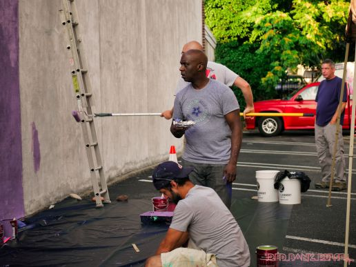3rd annual community mural painting Indie Street Film Festival 10 of 36