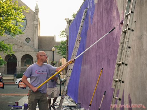 3rd annual community mural painting Indie Street Film Festival 12 of 36