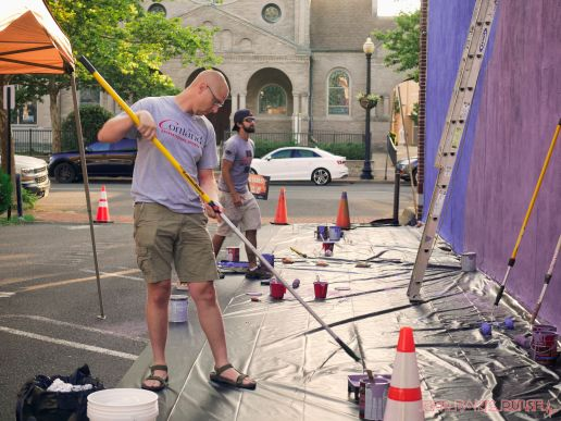 3rd annual community mural painting Indie Street Film Festival 13 of 36