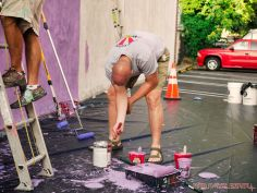3rd annual community mural painting Indie Street Film Festival 15 of 36