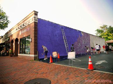 3rd annual community mural painting Indie Street Film Festival 2 of 36