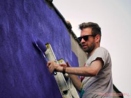 3rd annual community mural painting Indie Street Film Festival 27 of 36
