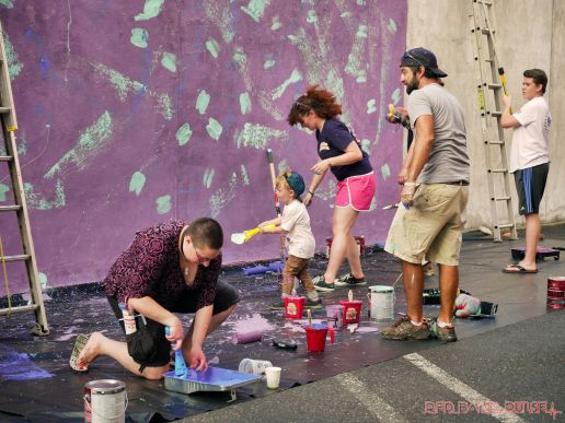 3rd annual community mural painting Indie Street Film Festival 3 of 36