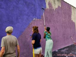 3rd annual community mural painting Indie Street Film Festival 32 of 36