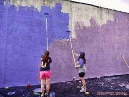 3rd annual community mural painting Indie Street Film Festival 36 of 36