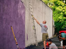 3rd annual community mural painting Indie Street Film Festival 9 of 36
