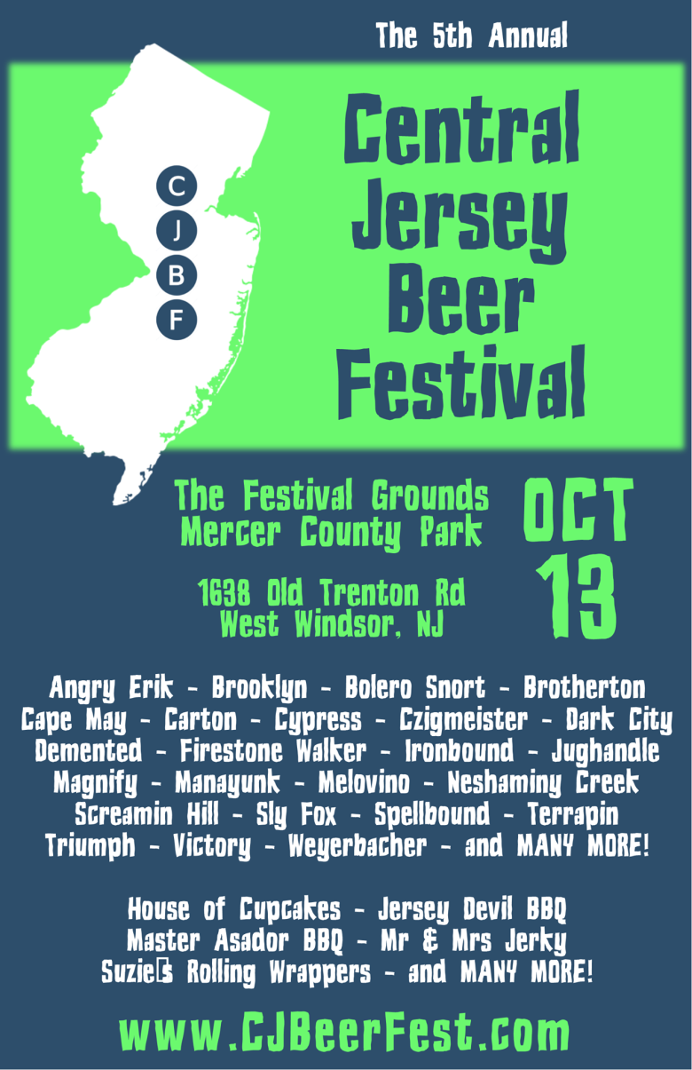 Central Jersey Beer Festival 2018 list