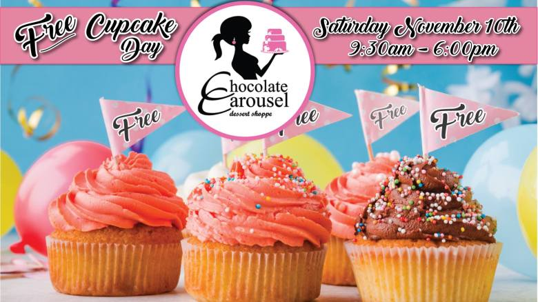Free Cupcake Day at Chocolate Carousel