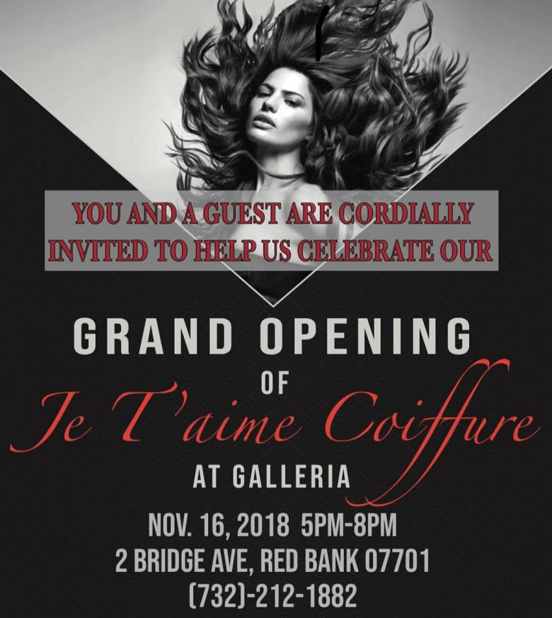 Je T_aime Coiffure at the Galleria grand opening