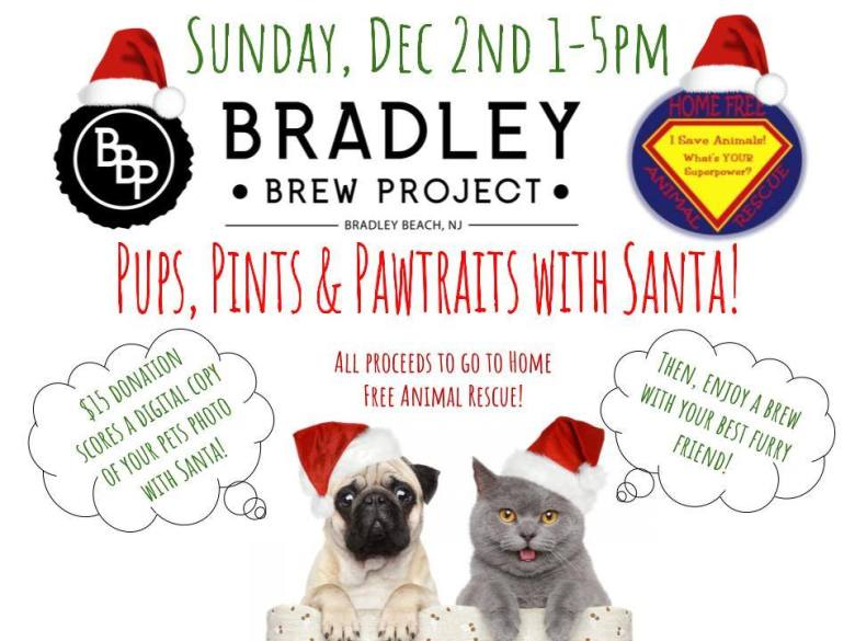 Pints, Pups and Pawtraits with Santa Home Free Animal Rescue