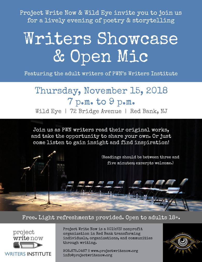 Writers Showcase & Open Mic Project Write Now