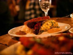 Asbury Festhalle & Biergarten pop-up market & half price menu night 80 of 151 sausage bratwurst