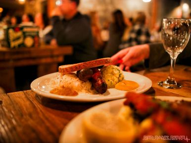 Asbury Festhalle & Biergarten pop-up market & half price menu night 82 of 151 sausage bratwurst
