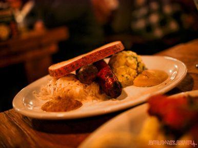 Asbury Festhalle & Biergarten pop-up market & half price menu night 83 of 151 sausage bratwurst