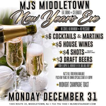 MJs Middletown New Year's Eve 2018