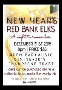 Red Bank Elk Lodge New Year's Eve 2018