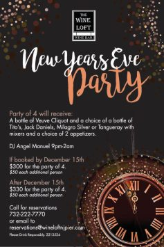 The Wine Loft Long Branch New Year's Eve 2018