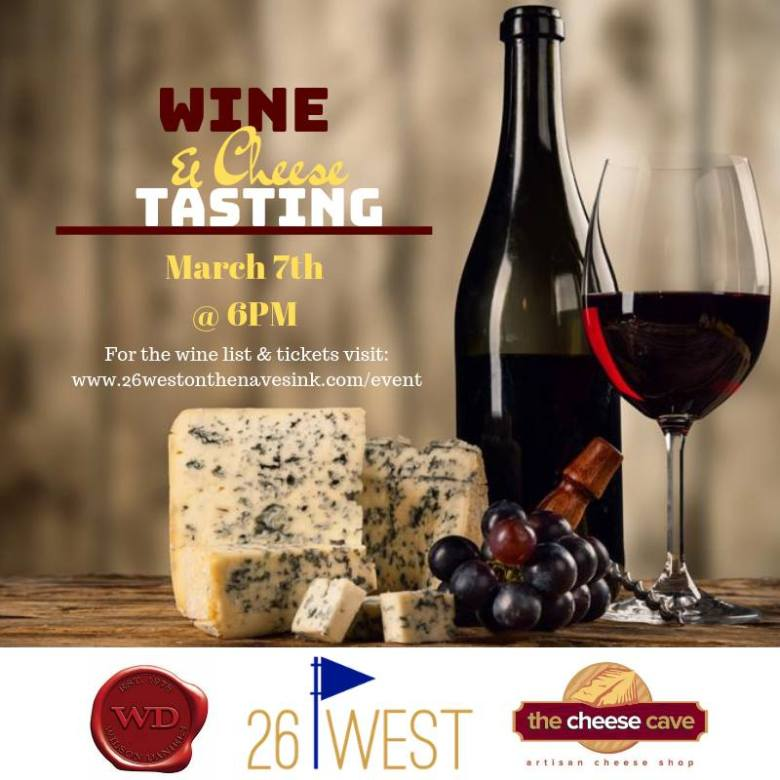 Wine & Cheese Tasting The Cheese Cave 26 West on the Navesink
