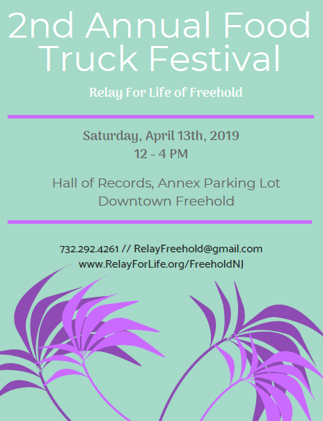 Relay for Life of Freehold 2nd Annual Food Truck Festival ad