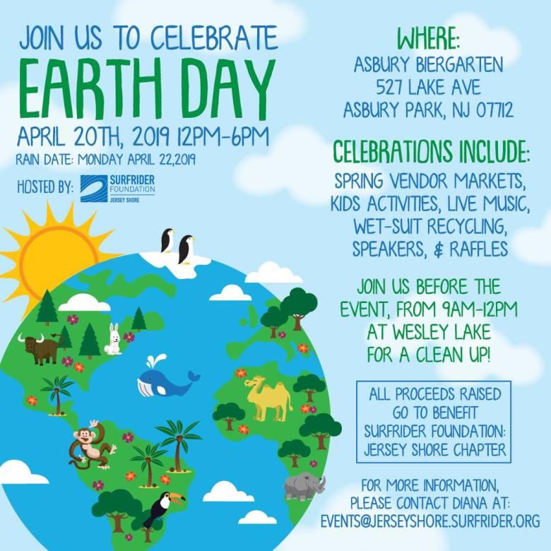 Earth Day Celebration Surfrider Asbury Festhalle & Biergarten